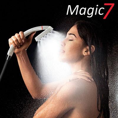 VitaVortex Magic7 Pro Titan Wirbler-Duschbrause + Anti-Legionellen-Modul
