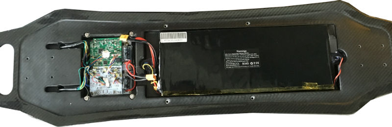 TranceBoard D 35-6 Electric Skateboard Circuit Board and Battery and Deck 800