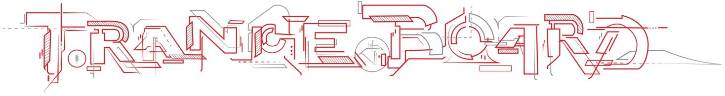 TranceBoard Elektrisches Skateboard Schriftzug