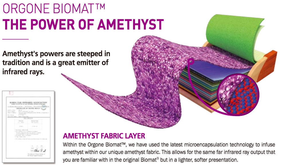 biomat bio sessions flyer amethyst mat