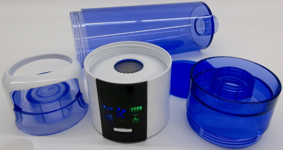 Aquacentrum-Blue-900-Hydrogen-Booster-with-PEM-Cell-lying-bottle-2-lid-production unit