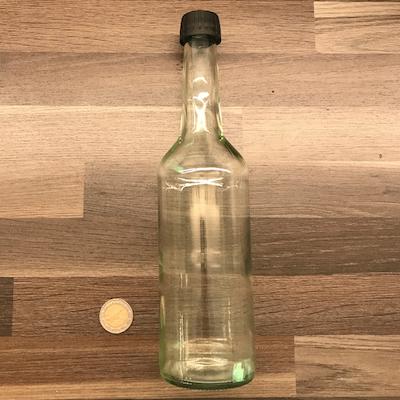 Water bottle-500ml-Glas-clear-incl-screw-cap