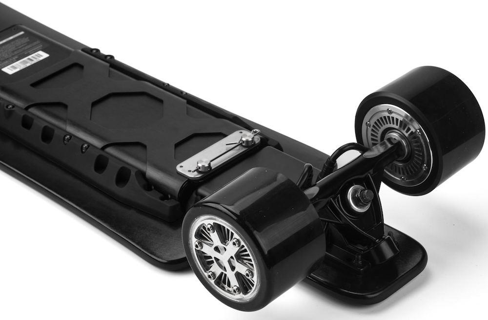 Koowheel 25-7 Electric Skateboard with Hub-Motors from bottom 1000-s