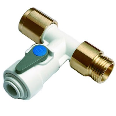 Angle Shut Off Valve John-Guest 1/2″ x 1/4″ with Backflow Prevention