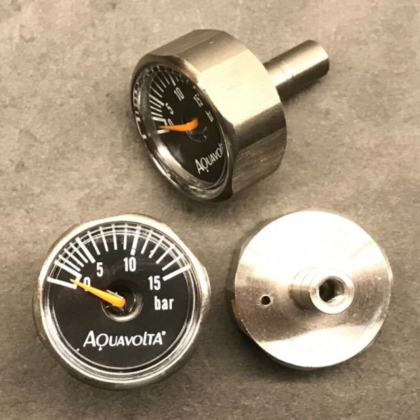 Aquavolta® Mini stainless steel manometer | 1 to 15 bar