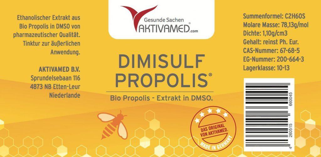 DIMISULF-PROPOLIS-Propolis-extract-dissolved-in-DMSO-100ml-Etikett1400-1024x501