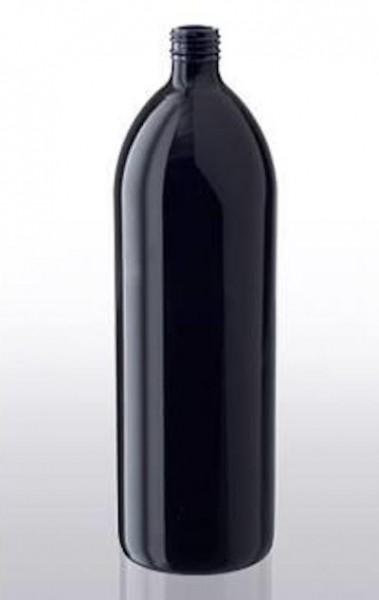 Water bottle 1 Liter violet glass incl. screw cap
